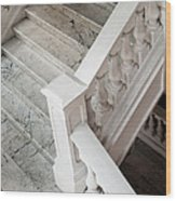Raffle's Hotel Marble Staircase Wood Print