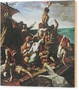 Raft Of The Medusa - Detail Wood Print