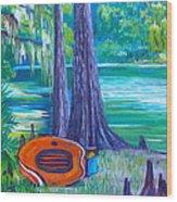 Rafting Day Wood Print