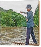 Rafting Guide On Mae Thang River Near Chiang Mai-thailand Wood Print