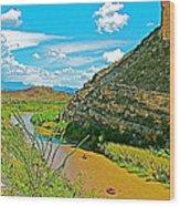 Rafting In Santa Elena Canyon In Big Bend National Park-texas Wood Print