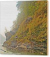 Rafting Near Shore In The Seti River-nepal   Wood Print