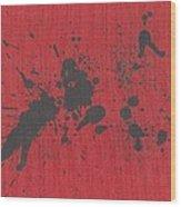 Rage Drip Art Wood Print