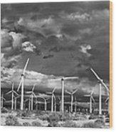 Rage Of The Wind Palm Springs Wood Print