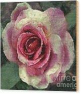 Ragged Satin Rose Wood Print