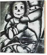 Raggedy Ann And Andy Wood Print