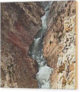 Raging River In Yellowstone Wood Print