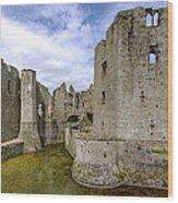 Raglan Castle - 4 Wood Print