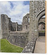 Raglan Castle - 6 Wood Print