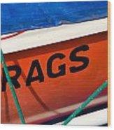 Rags Wood Print