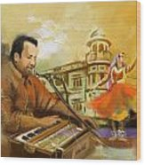 Rahat Fateh Ali Khan Wood Print