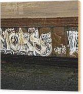Rail Car Graffiti Wood Print