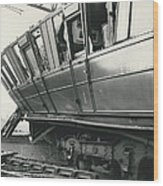 Rail Crash At Bethnal Green Four Coaches Derailed And Wood Print