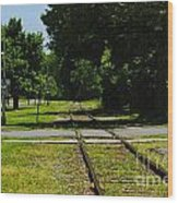 Rail Crossing Wood Print