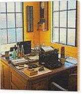 Rail Office Wood Print