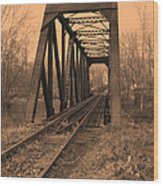 Railbridge Wood Print