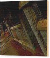 Railing Wood Print