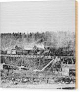 Railroad Bridge, 1858 Wood Print