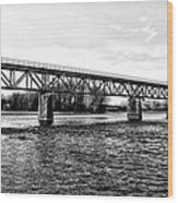 Railroad Bridge Over The Schuylkill River In Norristown Wood Print