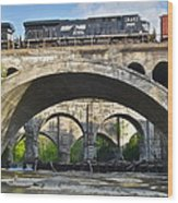 Railroad Bridges Wood Print