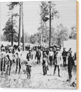 Railroad Camp, 1880s Wood Print