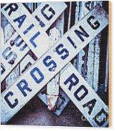 Railroad Crossings Wood Print
