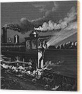 Railroad Danger Signal Wood Print