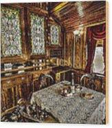 Railroad Dinnertable Wood Print