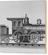 Railroad Engine, C1874 Wood Print