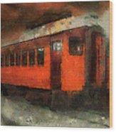 Railroad Gary Flyer Photo Art 03 Wood Print