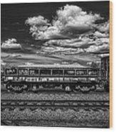 Railroad Gravel Car Wood Print