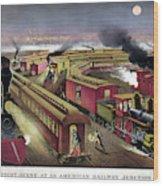 Railroad Junction, C1876 Wood Print