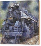 Railroad Locomotive 639 Type 2 8 2 Photo Art Wood Print