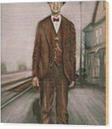 Railroad Man Wood Print