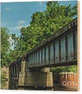 Railroad Over Waccamaw Wood Print