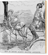 Railroad Safety, 1853 Wood Print