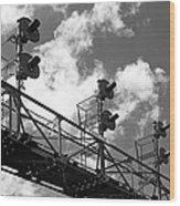 Railroad Signal Tower Wood Print