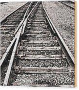 Railroad Switch Wood Print