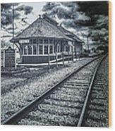Railroad Ties Marlette Michigan Wood Print