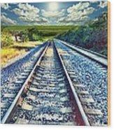 Railroad To Heaven Wood Print