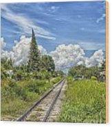 Railroad Track Wood Print