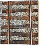 Railroad Track With Gravel 2 Wood Print