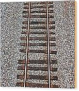 Railroad Track With Gravel Bed Wood Print