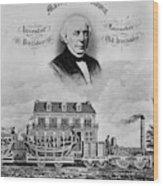 Railroad Train, 1832 Wood Print