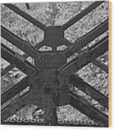 Railroad Trestle Framework Wood Print