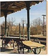 Railroad Wagons Wood Print