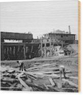 Railroad Workers, 1901 Wood Print