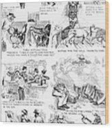 Railroading Cartoon, 1873 Wood Print