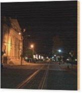 Rails Pre Dawn Wood Print