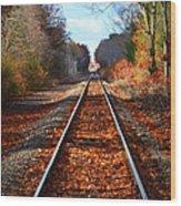 Rails Wood Print by Tricia Marchlik